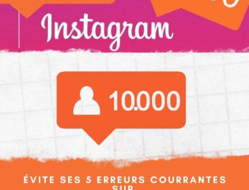 Réussir sur instagram, Éviter les erreurs courantes